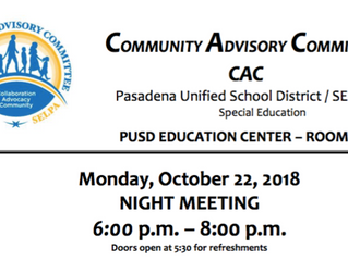 Support PUSD's Special Education efforts! | Monday, October 22