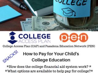 Free College Financial Planning Workshop!