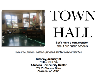 Town Hall in Altadena | January 30, 2018