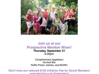 Join the Women's City Club of Pasadena | Prospective Member Mixer, September 21