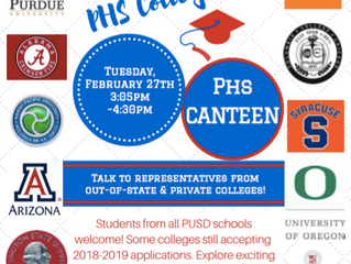 Open to all PUSD students: 6th Annual College Fair! | February 27