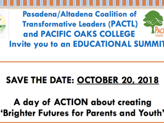Coming in October: An Educational Summit | October 20, 2018