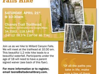 Teen Hike in Altadena! | Saturday, April 21