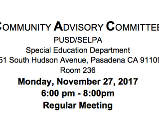 Support PUSD's Special Education Efforts!| November 27