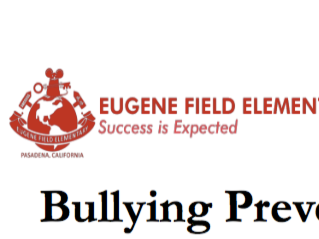 Bullying Prevention at Field Elementary | January 29, 2018