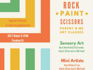 Rock - Paint - Scissors | Parent & Me Art Classes