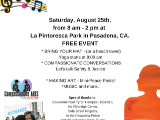Compassionate ARTS in the Park with Yoga and more... | This Saturday, August 25!