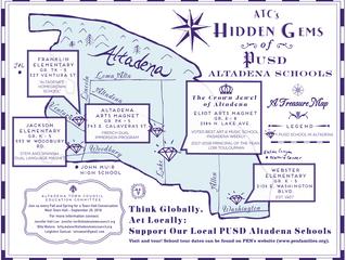 Hidden Gems of PUSD Altadena Schools | Check out this treasure map!