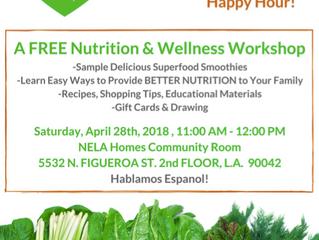 Healthy Family Happy Hour | Saturday, April 28