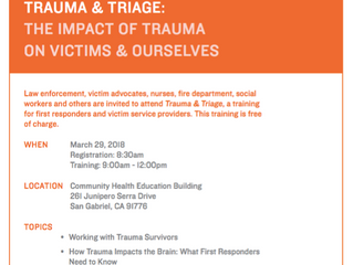 Free Training: The Impact of Trauma on Victims and Ourselves | March 29th