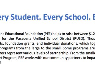 What is the Pasadena Educational Foundation?