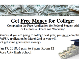 Get Free Money for College! | January 17, 2018