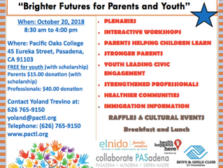 Brighter Futures for Parents and Youth! | A community summit on October 20, 2018