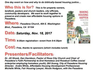 Making Affordable Housing Happen | Nov. 18