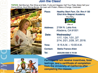 Free Nutrition Education at Elio Arts Magnet Academy!