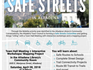 Let's talk about Safe Streets in Altadena! | Saturday, April 28