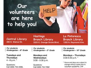After School Homework Help @ the libraries!