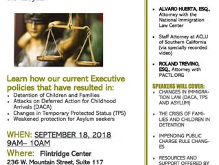 Immigration Update | September 18, 2018