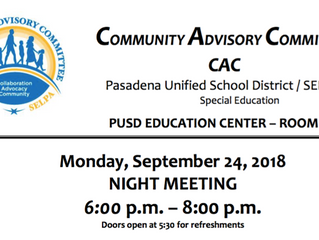 Special Education Efforts at PUSD | September 24, 2018