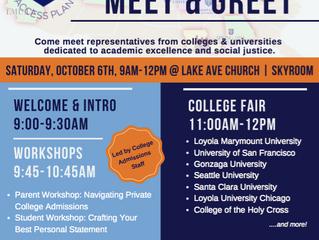 Private College Meet & Greet! | Saturday, October 6