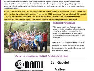 National Alliance on Mental Illness: Basics and Family-to-Family Program