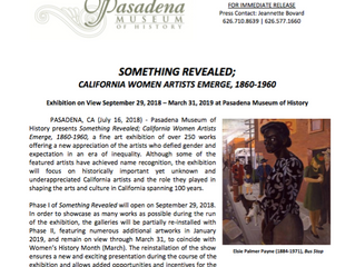 Something Revealed; California Women Artists Emerge | September 29, 2018 - March 31, 2019
