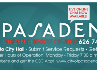 Pasadena Citizen Service Center | Submit requests & get answers!