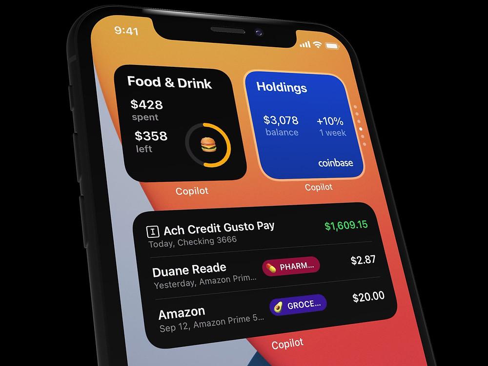 Copilot iOS 14 Widget Design