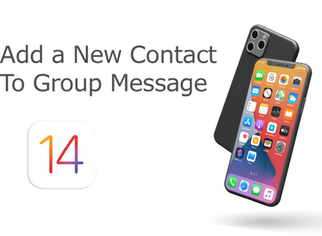 How To Add a New Contact To Group Message on iPhone 11/iOS 14
