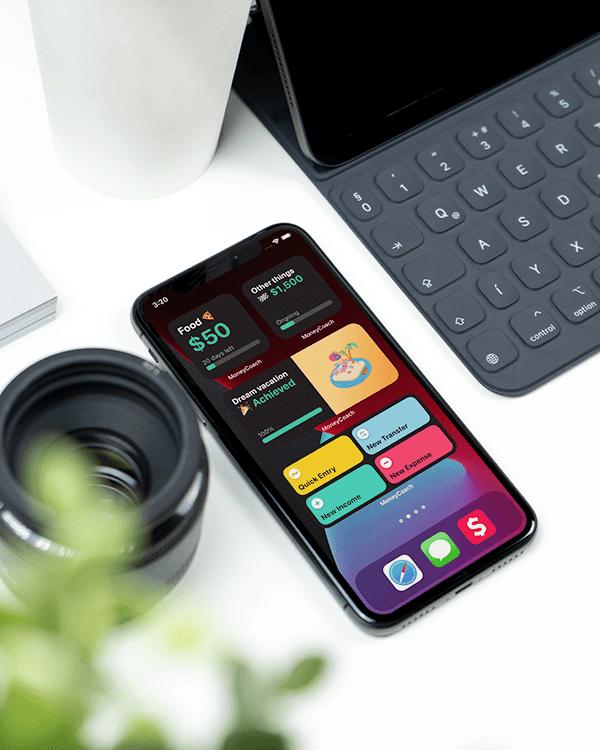 MoneyCoach iOS 14 Widget Design