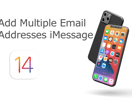 How To Add Multiple Email Addresses To iMessage / iOS 14