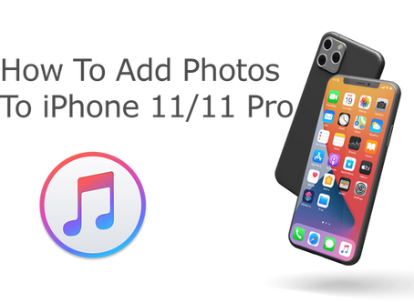 How To Add Photos To iTunes and Sync to iPhone 11/11 Pro