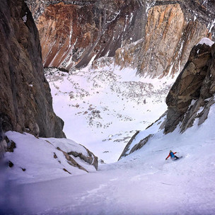 Abe Greenspan tearing up an Eastside couloir