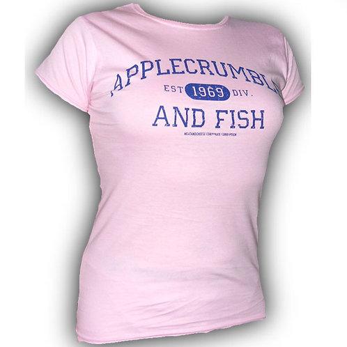 Applecrumble and Fish Girls T Shirt Pink