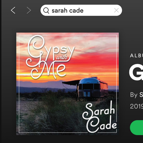 """Album Cover for """"Gypsy with Me"""" by Sarah Cade"""