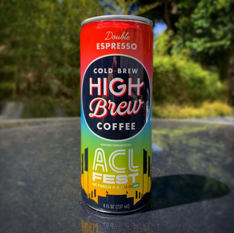 High Brew Coffee Can for Austin City Limits • 2019