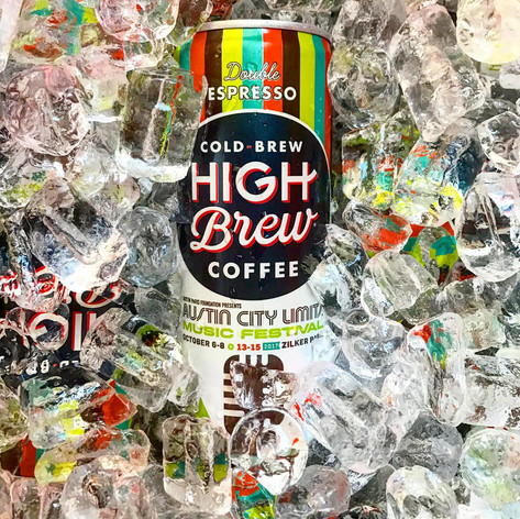 High Brew Coffee Can for Austin City Limits • 2017