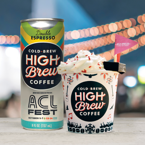 High Brew Coffee Can for Austin City Limits • 2018