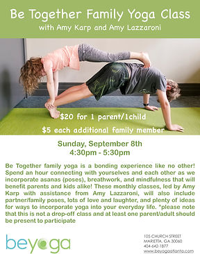 Be Yoga Events and Workshops