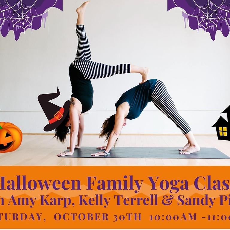 Halloween Family Outdoor Yoga