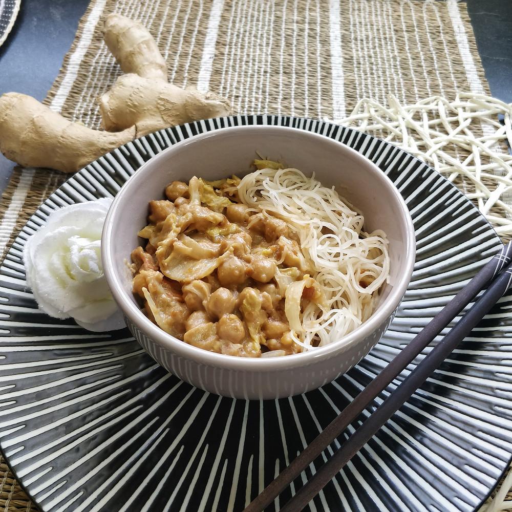 Nouilles aux pois chiches sauce cacahuète Diaita