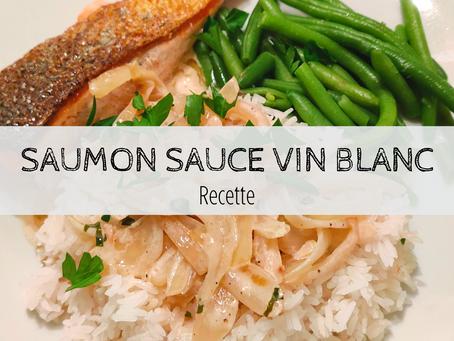 Saumon sauce au vin blanc
