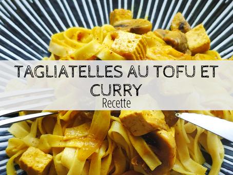 Tagliatelles tofu curry