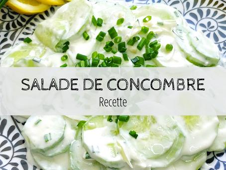 Salade de concombre rafraichissante