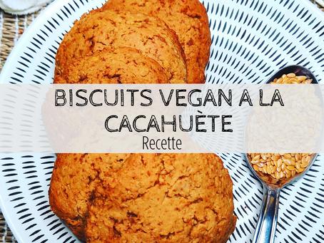 Biscuits vegan au beurre de cacahuète