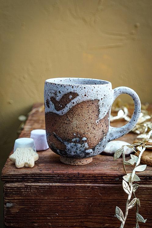 Tea or Coffee Cup in Beach Splash