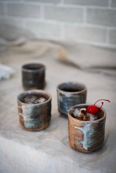 Set of Four 'Wobble' Cups