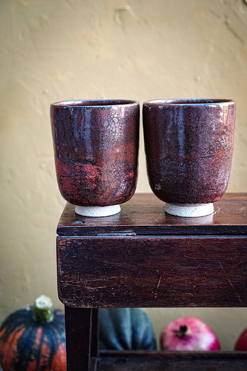 Rust Yunomi Cups Set of Two
