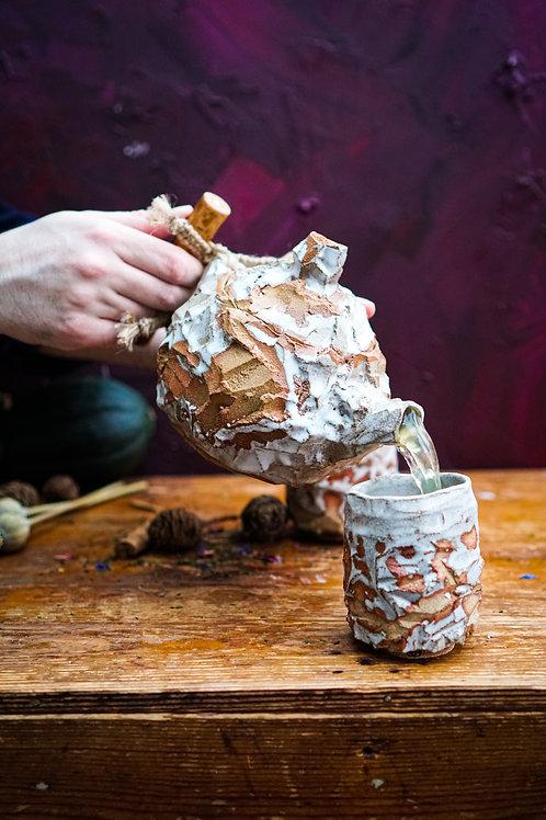 Kurinuki Teapot Set in Snowfall