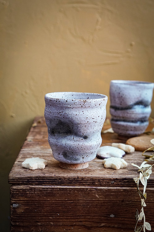 Wobble Yunomi Cup in Glacier Blue